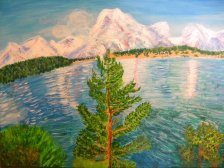 Georgia Mountains, Acrylic