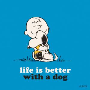 Charlie & Snoopy hugging