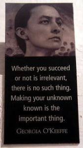 Georgia O'Keeffe on Success
