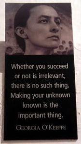 Georgia O'Keeffe on Success