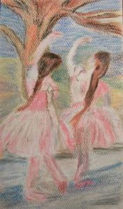 Pastel copy of Dancers in Pink by Edgar Degas