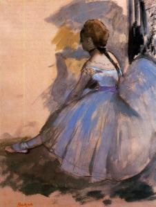 Degas dancer-seated-study-1872