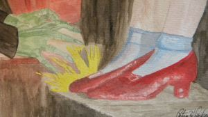 Dorthy's Ruby Slippers Close-up
