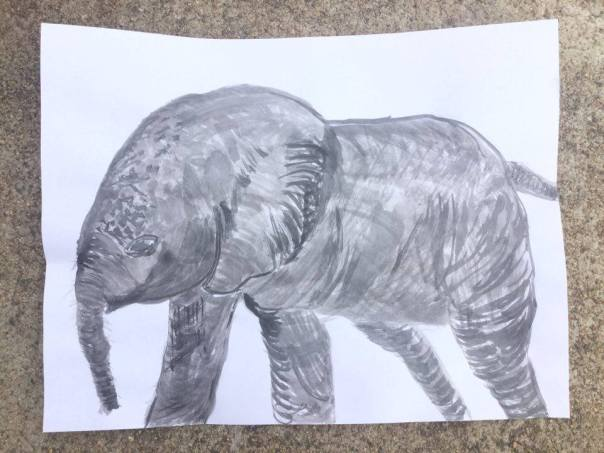 elephant-sumi-e-ink