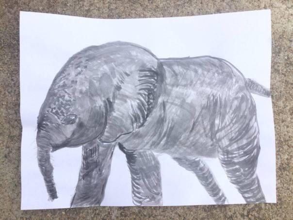 elephant-sumi-e-ink